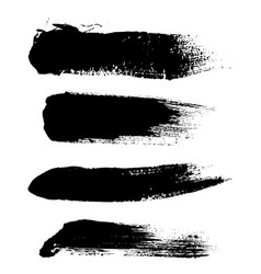 hight quality set hand drawn brush vector image