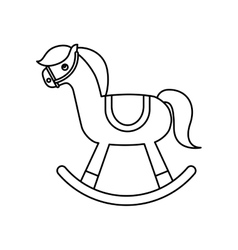 Horse wooden toy icon vector