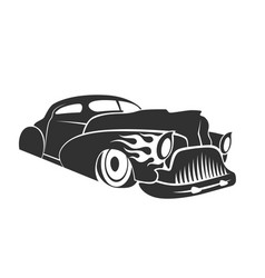hot rod low rider coupe vector image