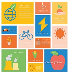 Icon ecology nature conservation vector