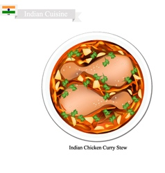 Indian Chicken Curry A Famous Dish in India vector image