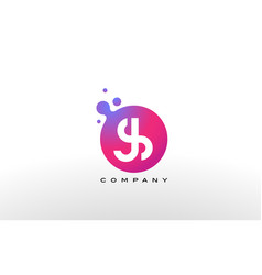 js letter dots logo design with creative trendy vector image