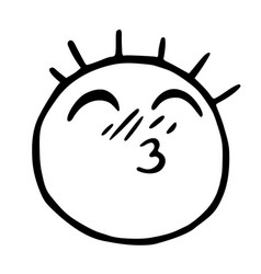 line emoticons icon smiley with closed eyes and vector image