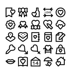 Love and Romance Icons 5 vector image