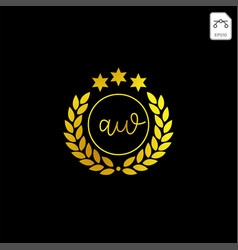 Luxury aw initial logo or symbol business company vector