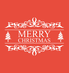 merry christmas text for designing letters beauti vector image