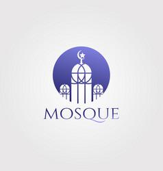 Mosque logo designislamic icon vector