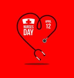 Nurses day template design vector