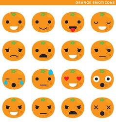 Orange emoticons vector