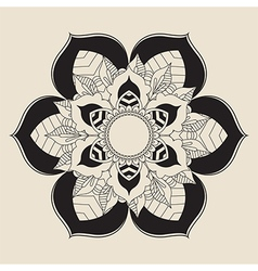 Outline Mandala for coloring book vector image