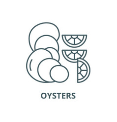 oysters line icon linear concept outline vector image