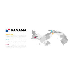 panama map infographic template slide vector image