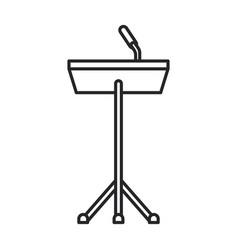 podium rostrum iconline icon vector image
