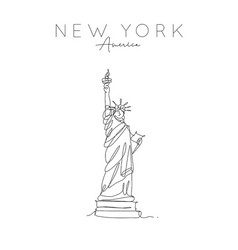 Poster new york statue liberty vector