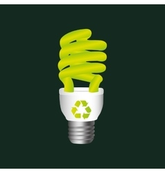 recycle symbol eco bulb design vector image