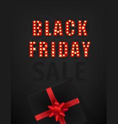 Retro style black friday sale card vector