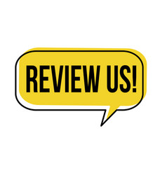Review us speech bubble vector