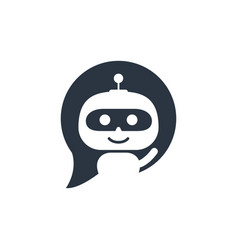 Robot icon chat bot sign for support service vector