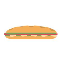 sandwich fresh food vector image