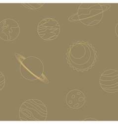 seamless background with planets vector image