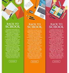 Set of banners back to school with place for your vector image