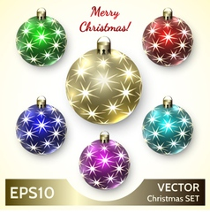 Set of Christmas Decoration Balls vector image