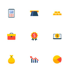 Set of commerce icons flat style symbols with vector