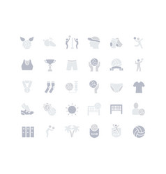 set simple icons volleyball vector image