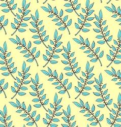 Sketch laurel branch vector
