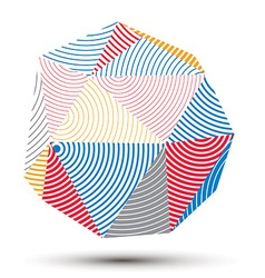 Spatial colorful object isolated 3d technology vector