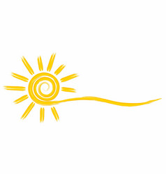 Summer bright sun vector