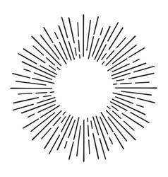sunburst doodle line art hand drawn sun burst vector image