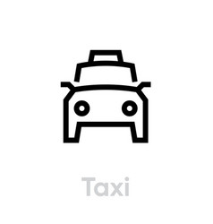 taxi icon editable line taxicab symbol vector image