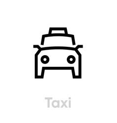 taxi icon editable line taxicab symbol vector image