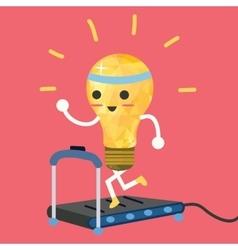 Testing ideas light bulb having exercise vector