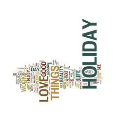 The beauty of a holiday text background word vector
