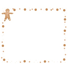 Traditional Christmas Gingerbread Man Frame vector image