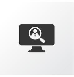 vacancy icon symbol premium quality isolated vector image