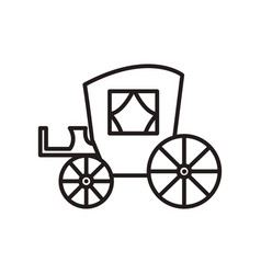 vintage carriageantique transport line vector image