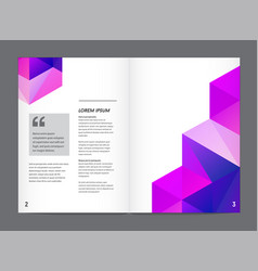 Visual identity with letter logo elements vector