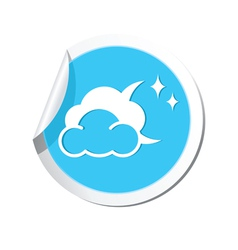 Weather forecast clouds with moon and stars icon vector image
