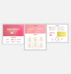 Web page design website business graphic vector