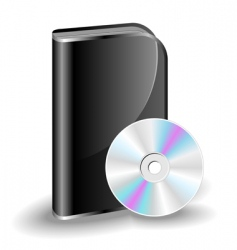 cd dvd box vector image