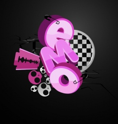 emo typography vector image vector image