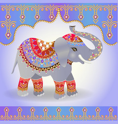 indian elephant decorated for a wedding vector image