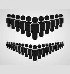 people group icon on the white background vector image