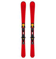 winter sports themed red touring skis in flat vector image