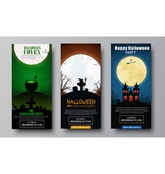 Design of flyers for Halloween party vector image