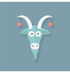 Funny Goat in Flat Style vector image vector image