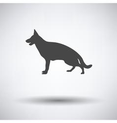 German shepherd icon vector image vector image